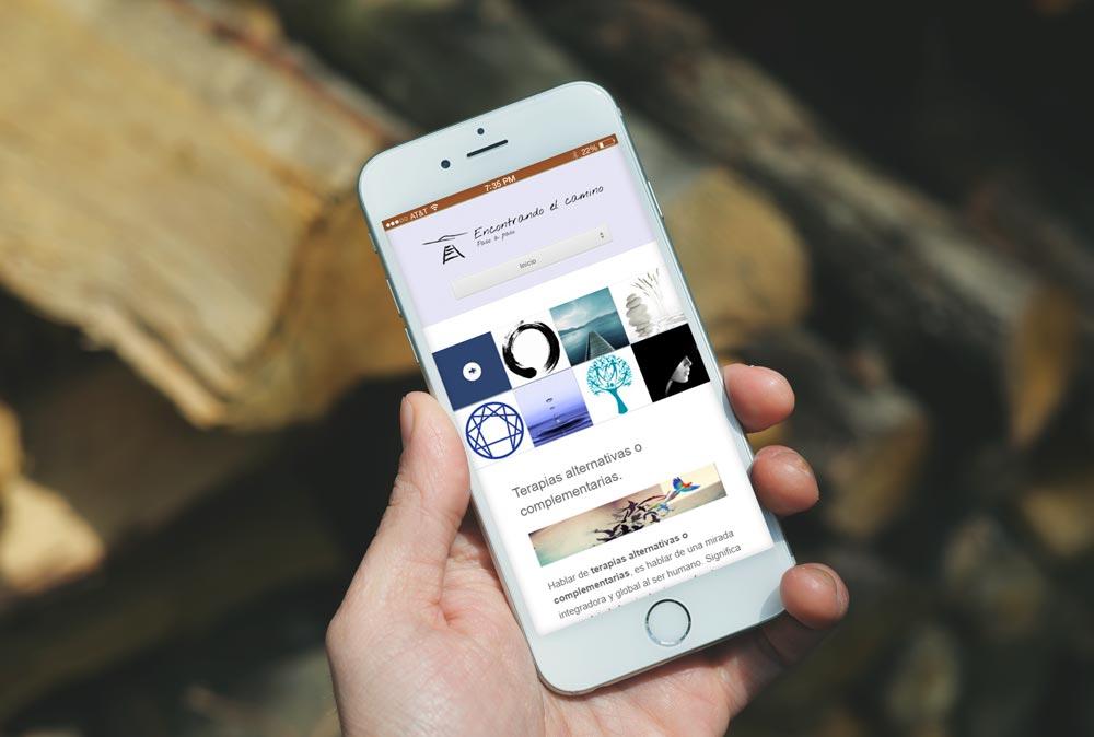 Versión móvil de la web encontrandoelcamino.com