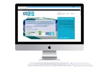 Web de la plataforma de enseñanza online GISCAD. Enseñanza de software técnico profesional