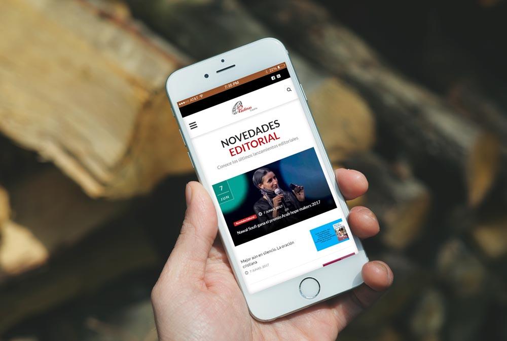 Versión móvil de la web de Paulinas