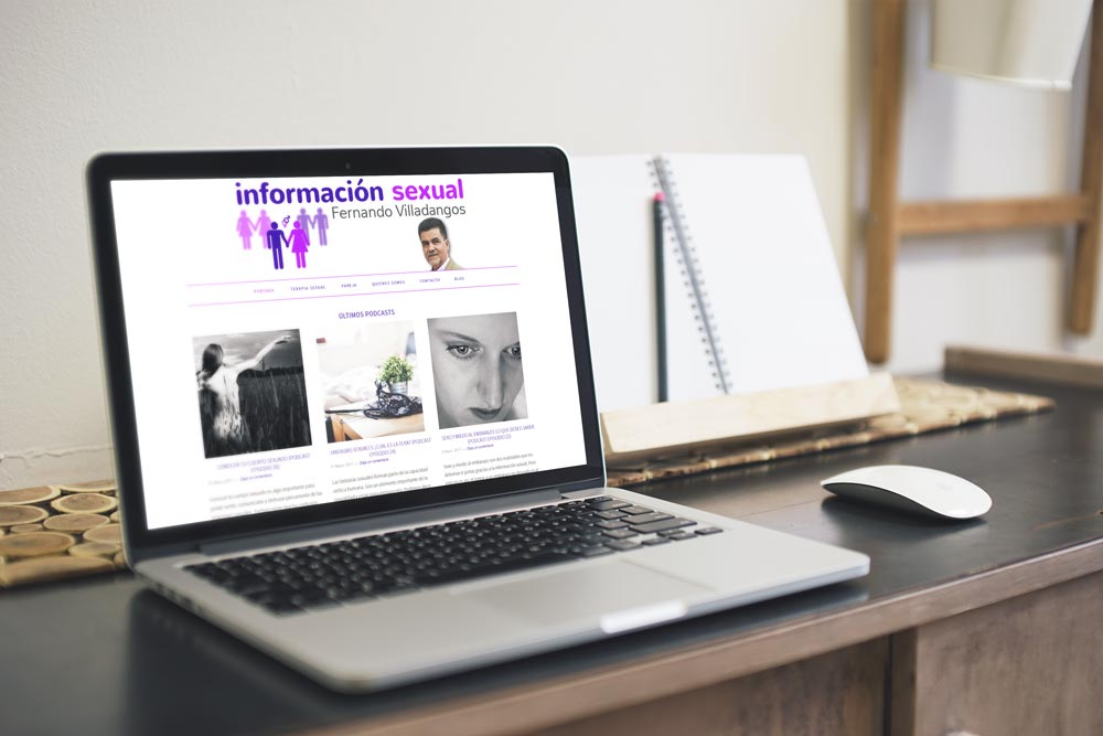Versión de escritorio de la web Información Sexual