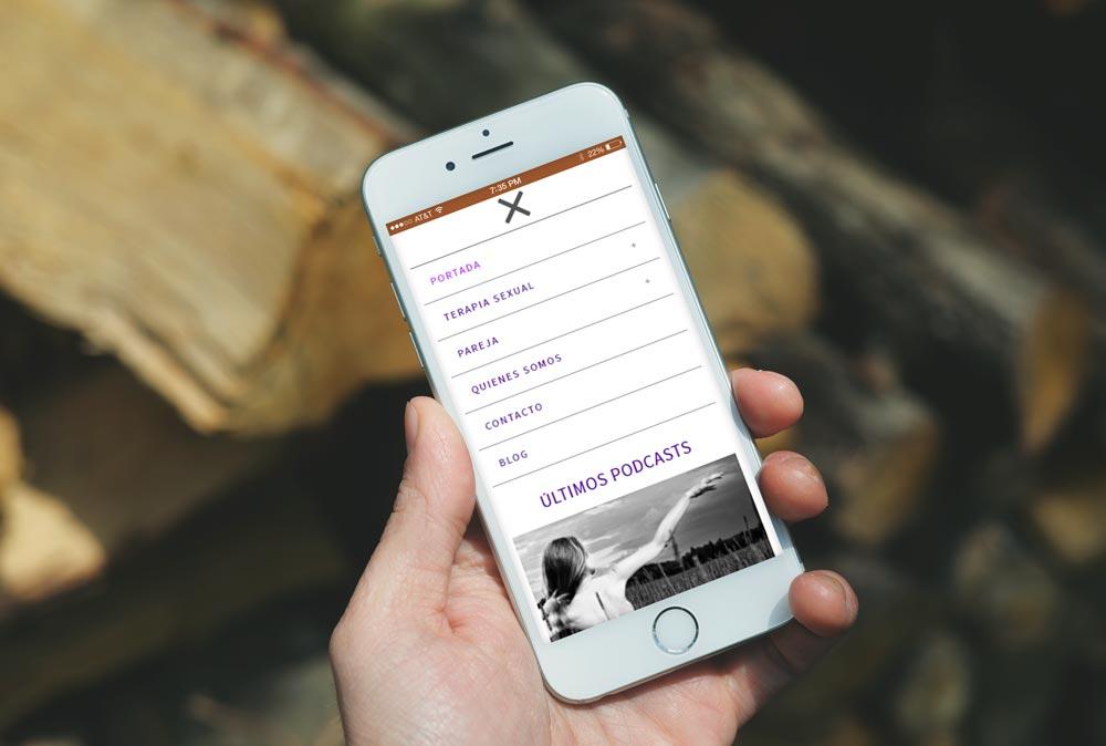Versión móvil de la web de Información Sexual