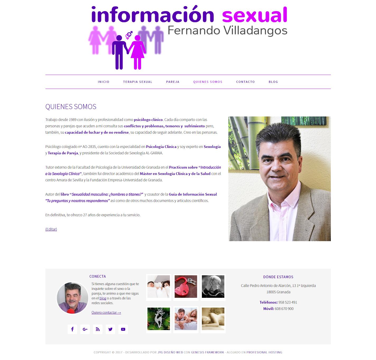 """Página """"quiénes somos"""" de informacionsexual.com"""