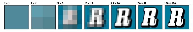 Explicación del concepto de resolución de imagen según Wikipedia