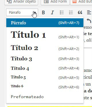 Editor de estilos de WordPress