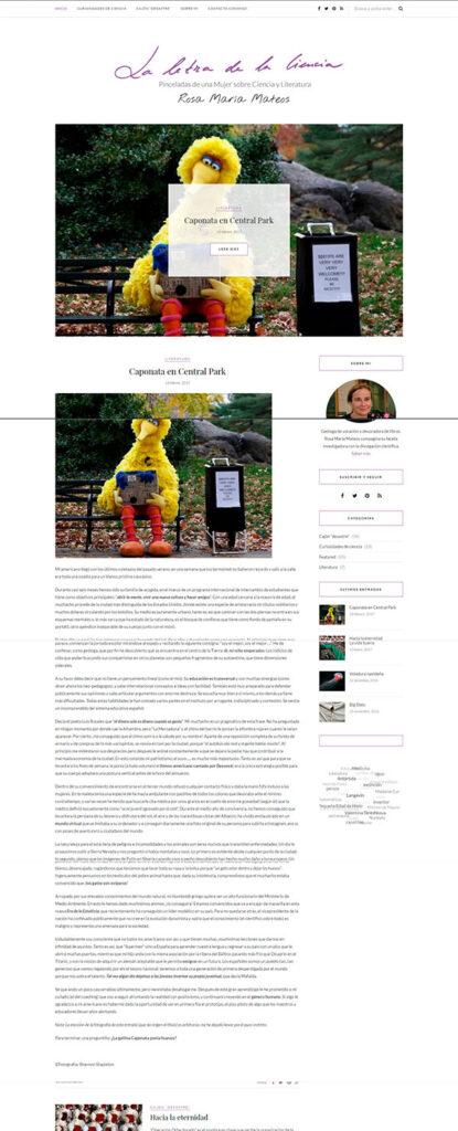 Ejemplo de artículo sin leer más en la pantalla de inicio de una web