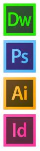 Iconos de los programas que uso de Adobe CC