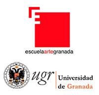 Logotipos de los centros en los que me formé: Escuela Arte Granada y Universidad de Granada