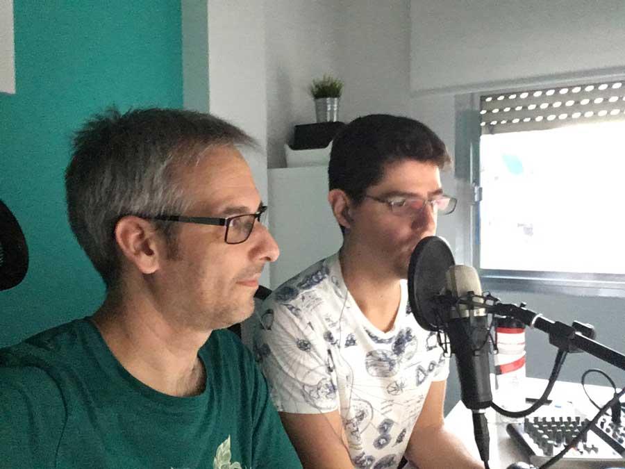 Fran Torres y yo en la entrevista con Jaime Garmar