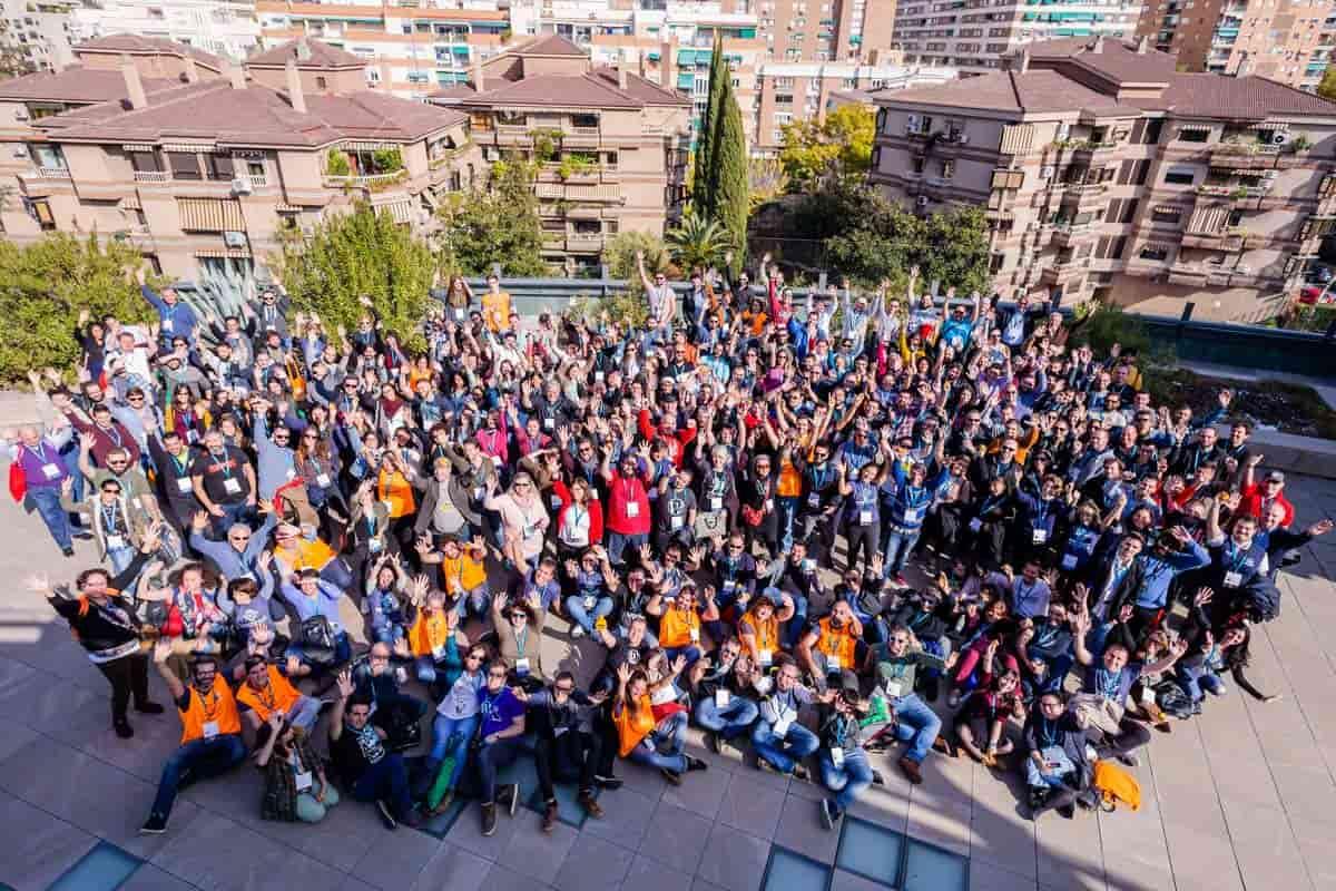 Foto de grupo WordCamp Granada deslumbrados