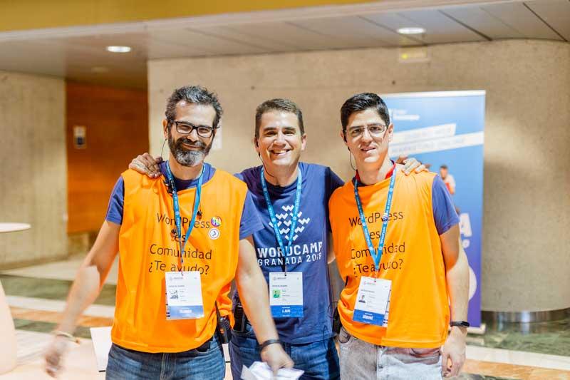 Los tres mosqueteros de la comunidad WPGranada