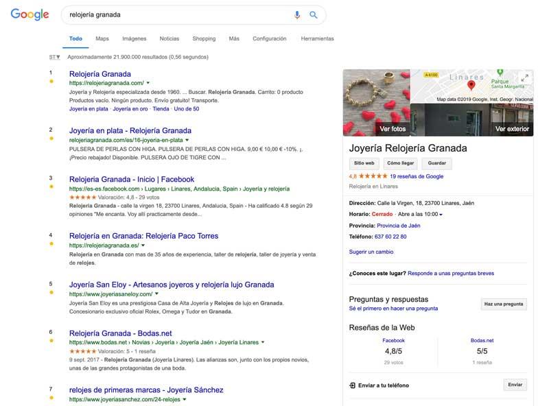SEO local para empresas. Ficha de Google my business.