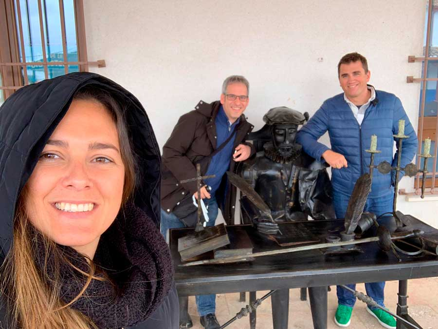 David and Sacra of Closemarketing with me in Puerto Lápice